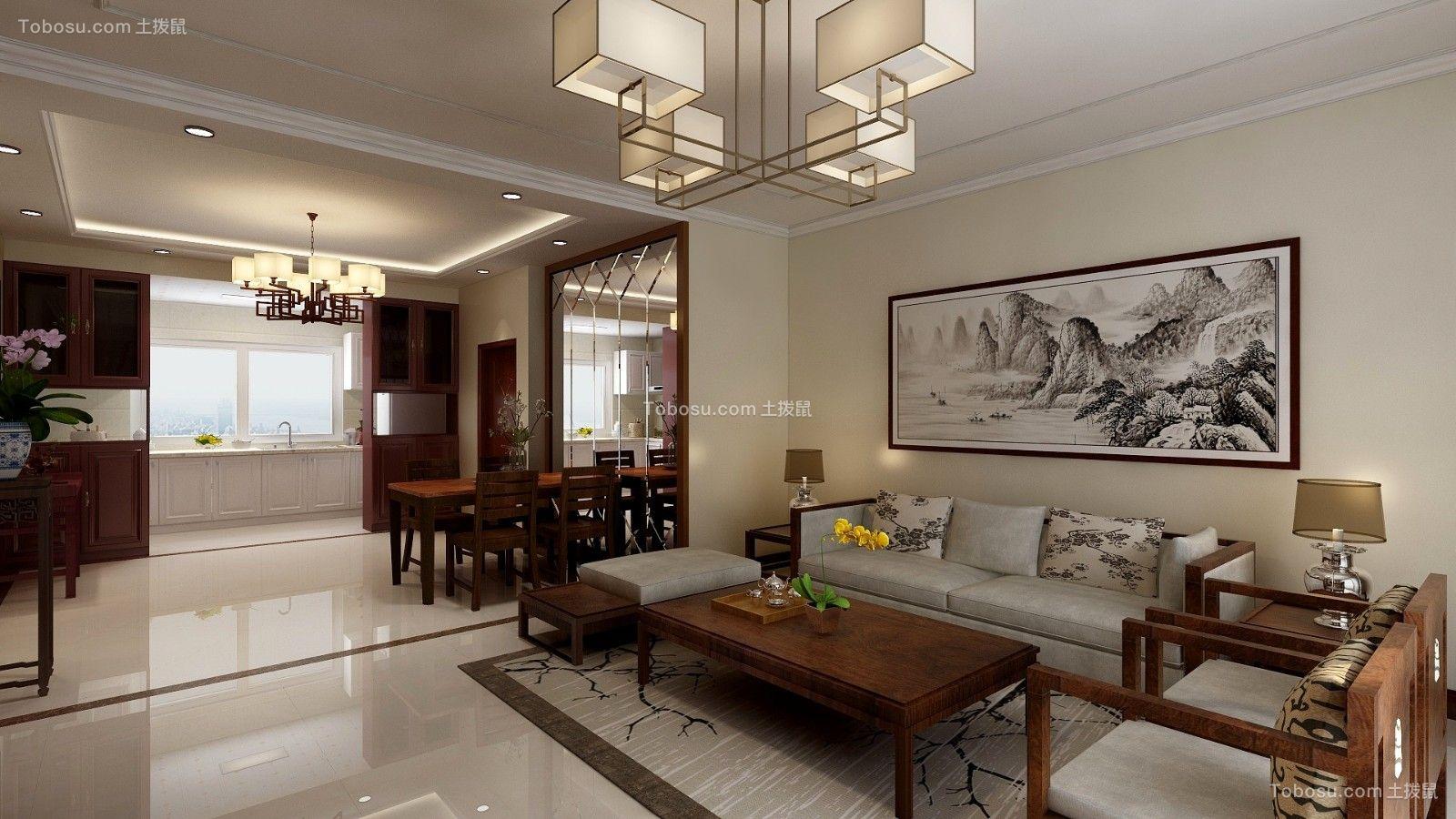 2019新中式客厅装修设计 2019新中式茶几装修效果图大全