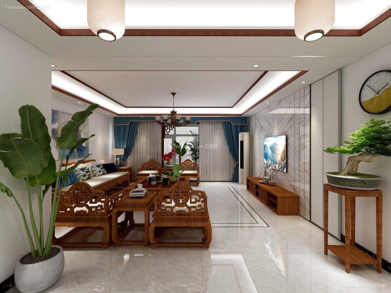 2019新中式客厅装修设计 2019新中式走廊效果图