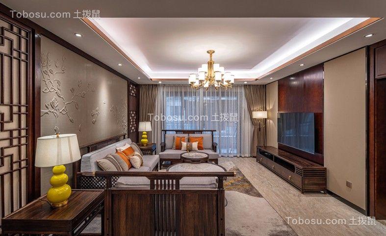 2019中式客厅装修设计 2019中式沙发装修图