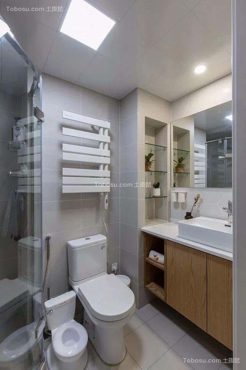 2019日式卫生间装修图片 2019日式淋浴房装修设计图片