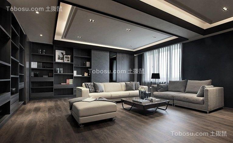 120平套房现代暗系风格