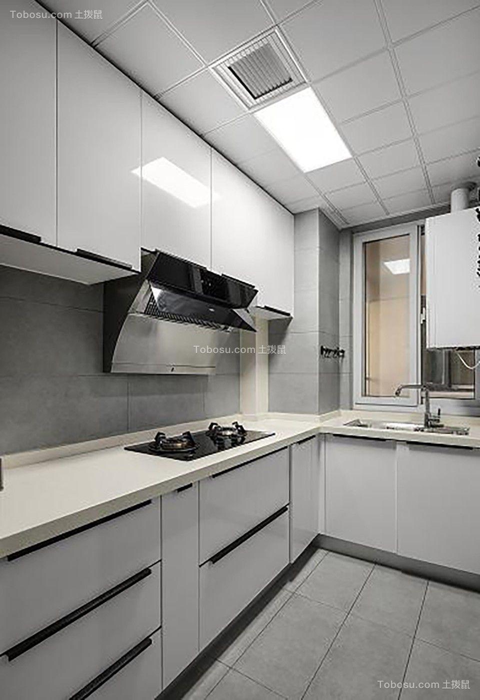 2019现代简约厨房装修图 2019现代简约厨房岛台装饰设计