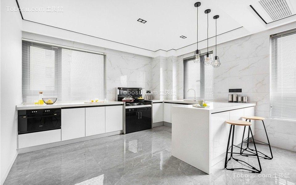 2019简约厨房装修图 2019简约厨房岛台装饰设计