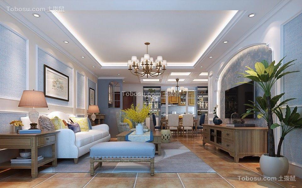 105平欧美风格三居室装修效果图