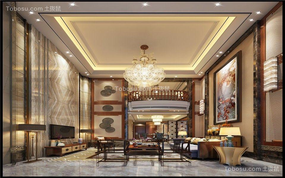 龙湖252平别墅新中式别墅装修效果图