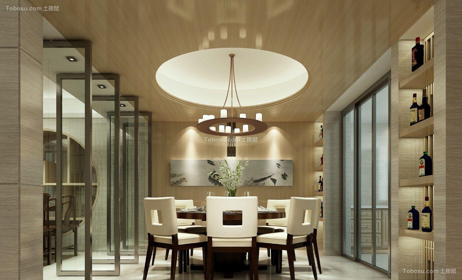 130平现代简约风格3室2厅效果图案例