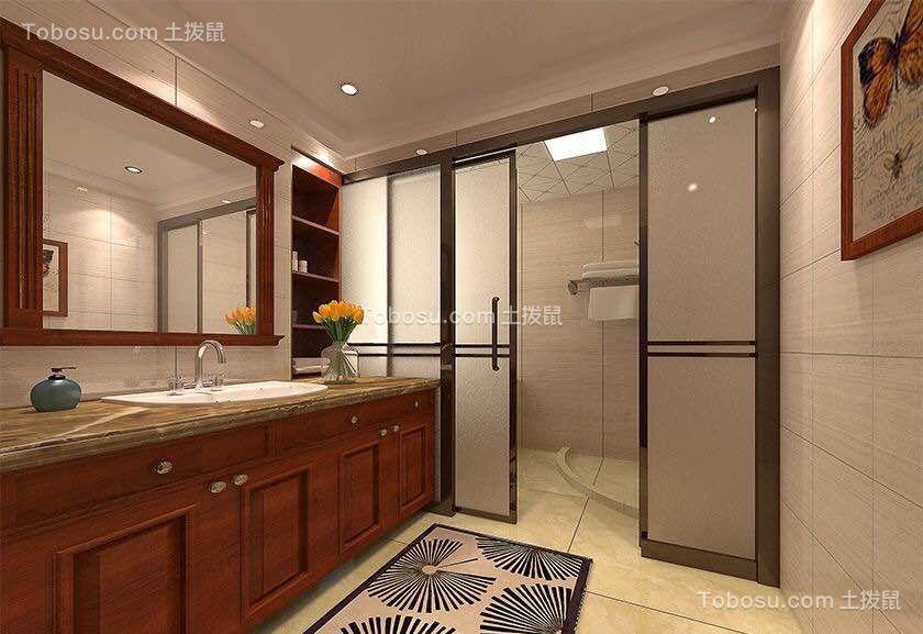中式风格135平3室2厅1卫效果图案例