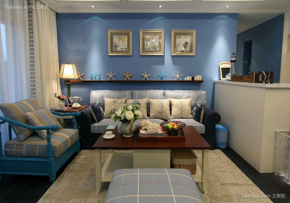 130平3室两厅一卫地中海风格效果图
