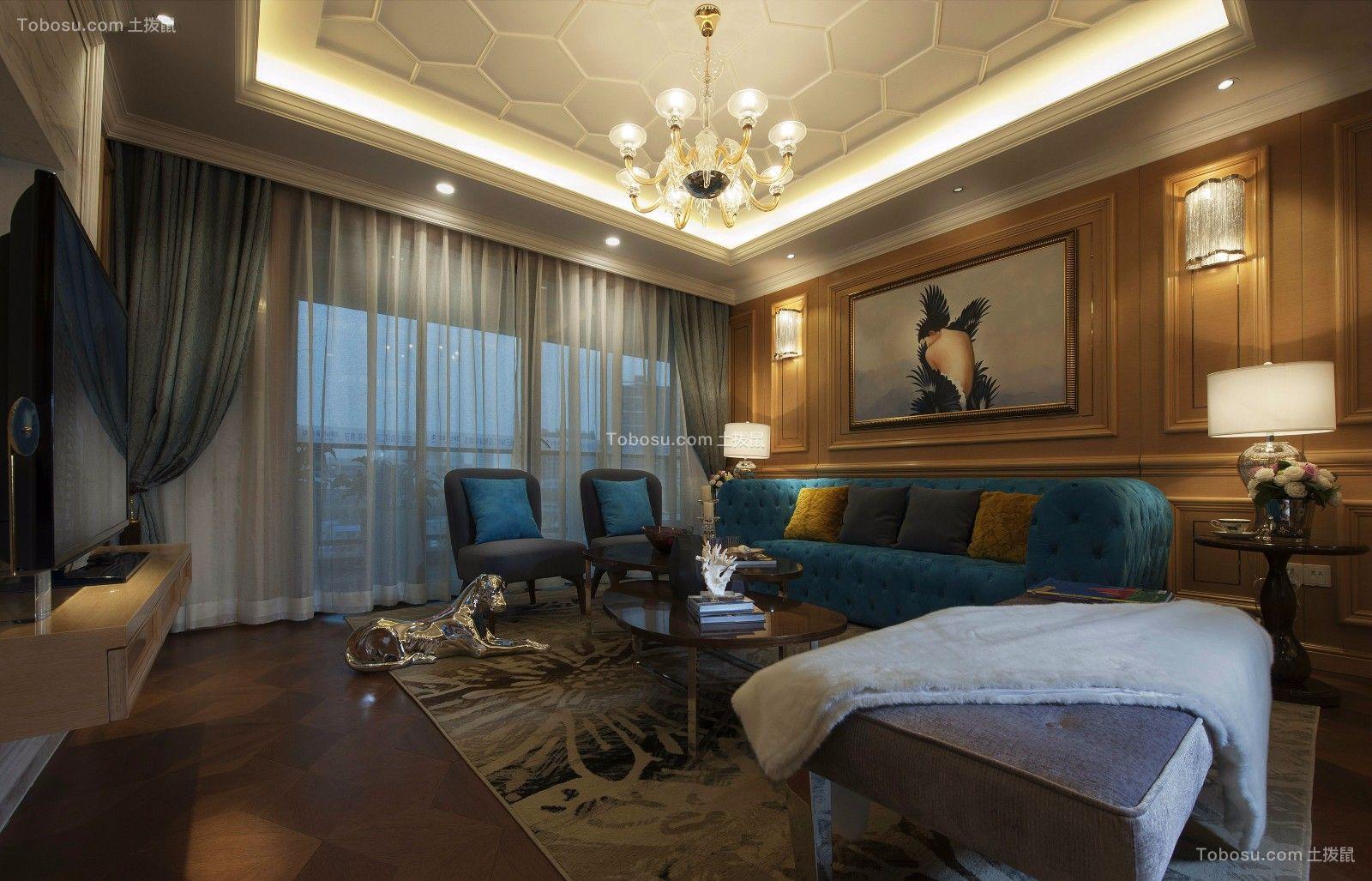 欧式奢华三居室160平设计效果图