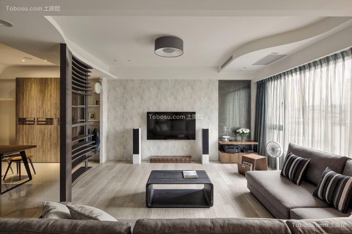 167平北歐風格三居室裝修效果圖