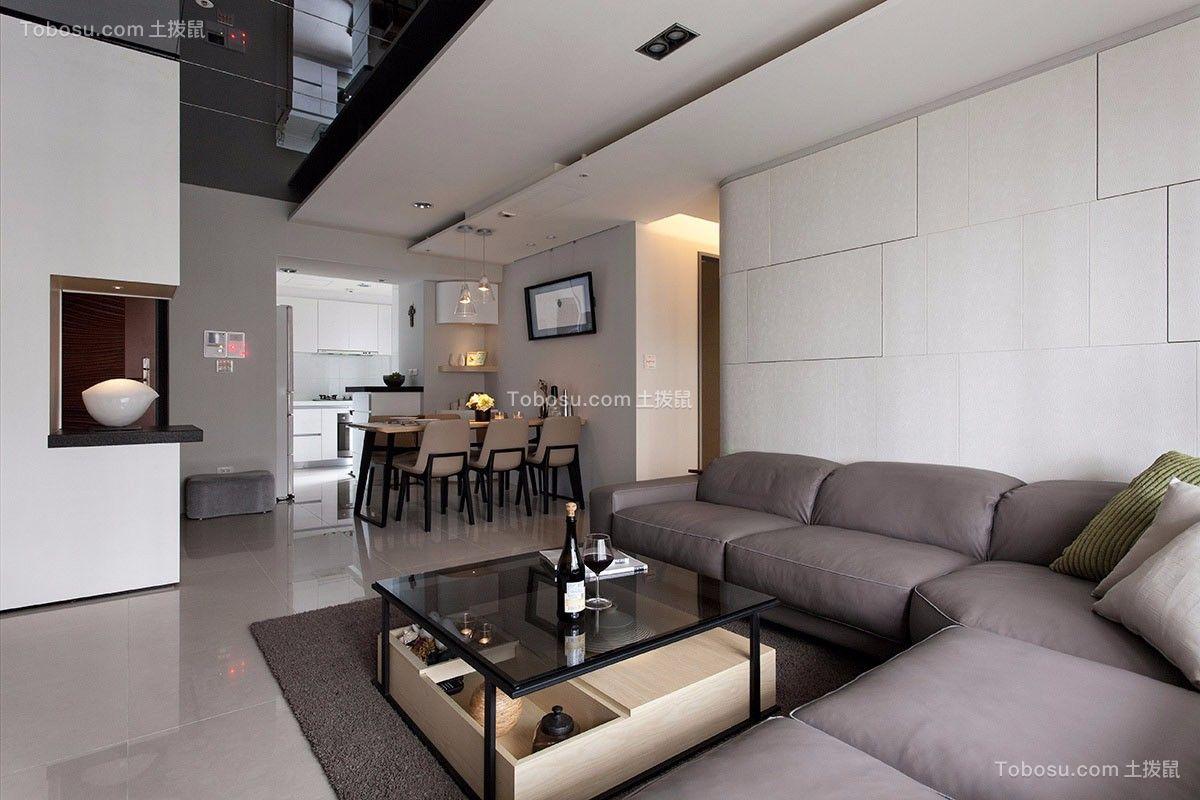 現代風格二居室效果圖