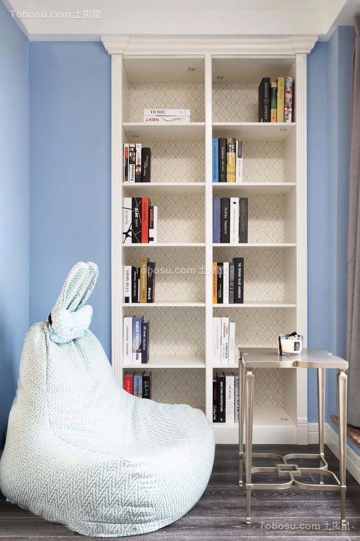 书房 书架_145平米法式四居室长嘉汇效果图