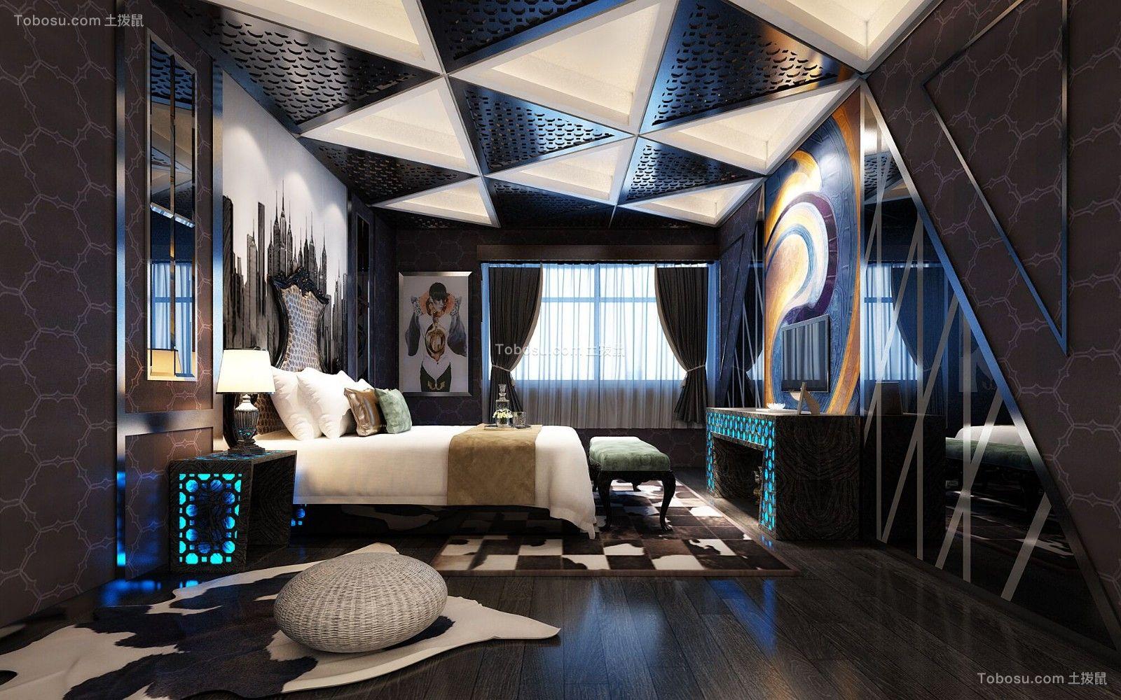 2019现代简约卧室装修设计图片 2019现代简约隐形门装饰设计