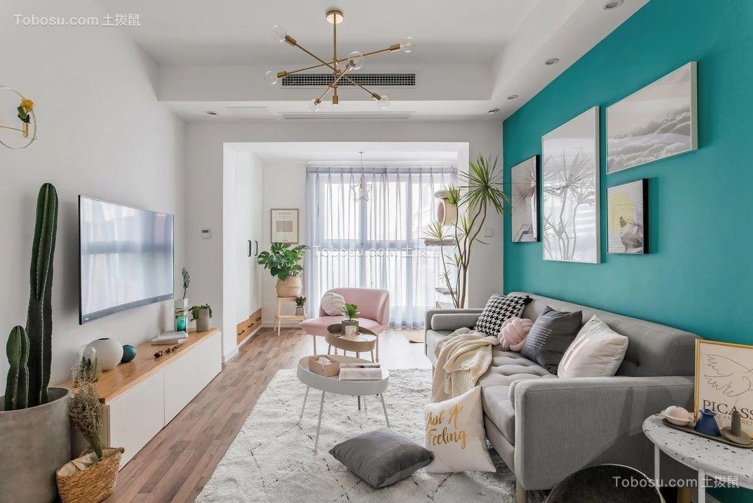 78平北欧风格一居室装修效果图