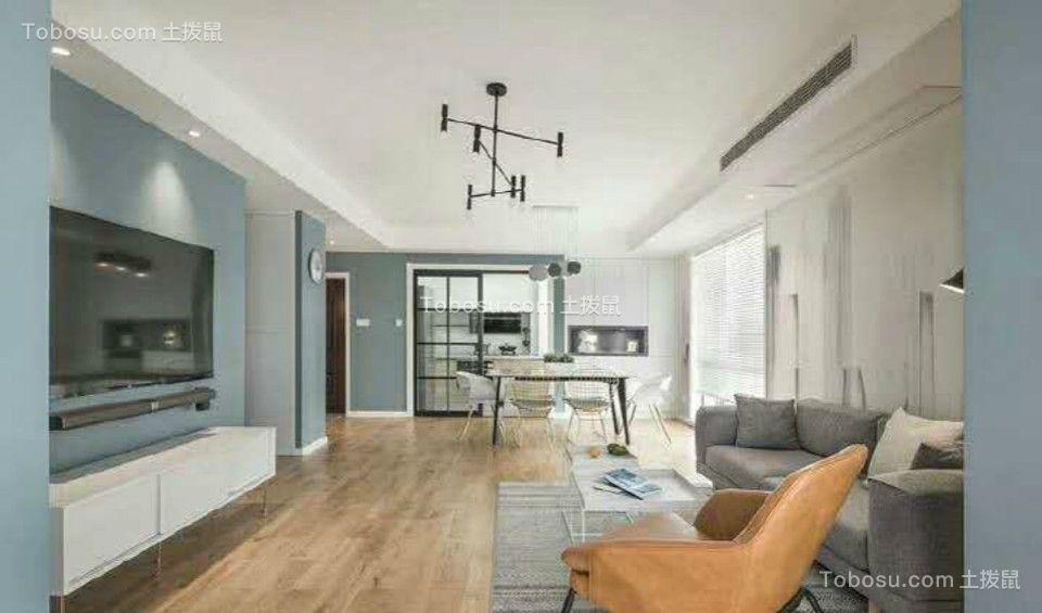 北欧风格106平方三居室套房装修效果图