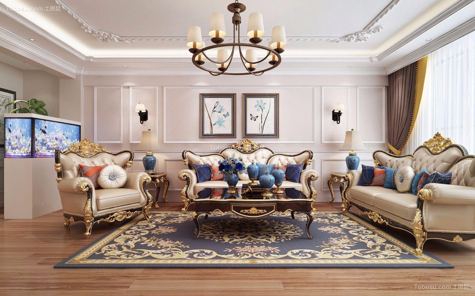 和风庭院151平米古典欧式风格三居室装修效果图