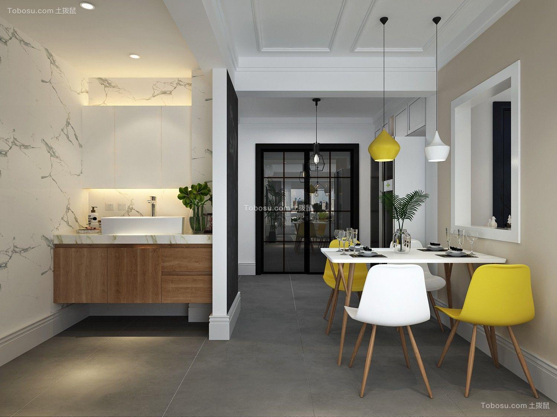 2019北欧餐厅效果图 2019北欧浴室柜装修图