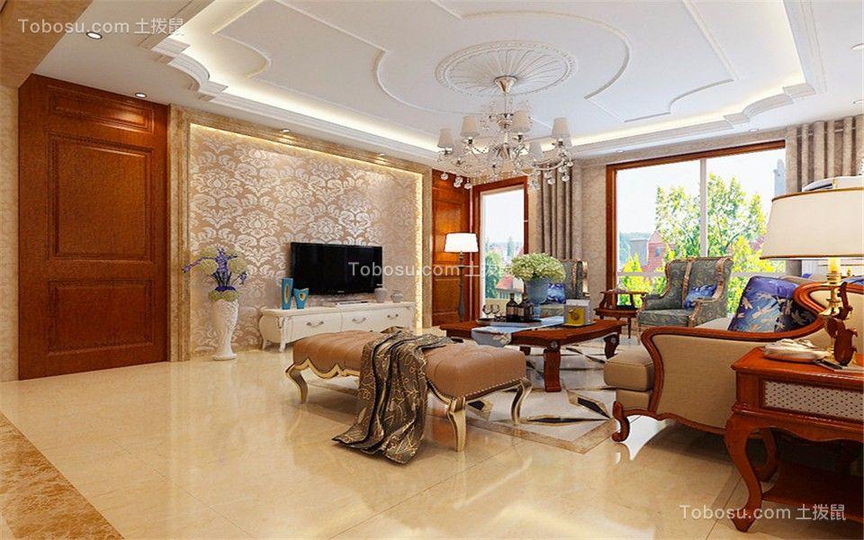 鑫界王府欧式168平三居室装修效果图