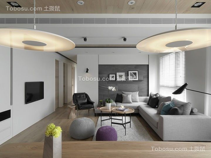 生活品格简约风格3房113平装修效果图