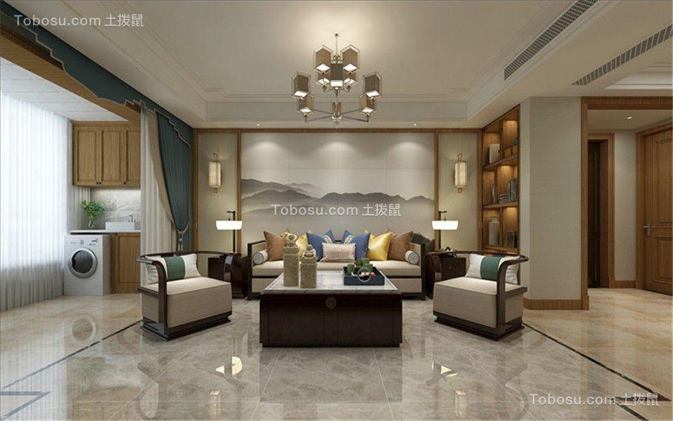 155平三房中式风格装修效果图