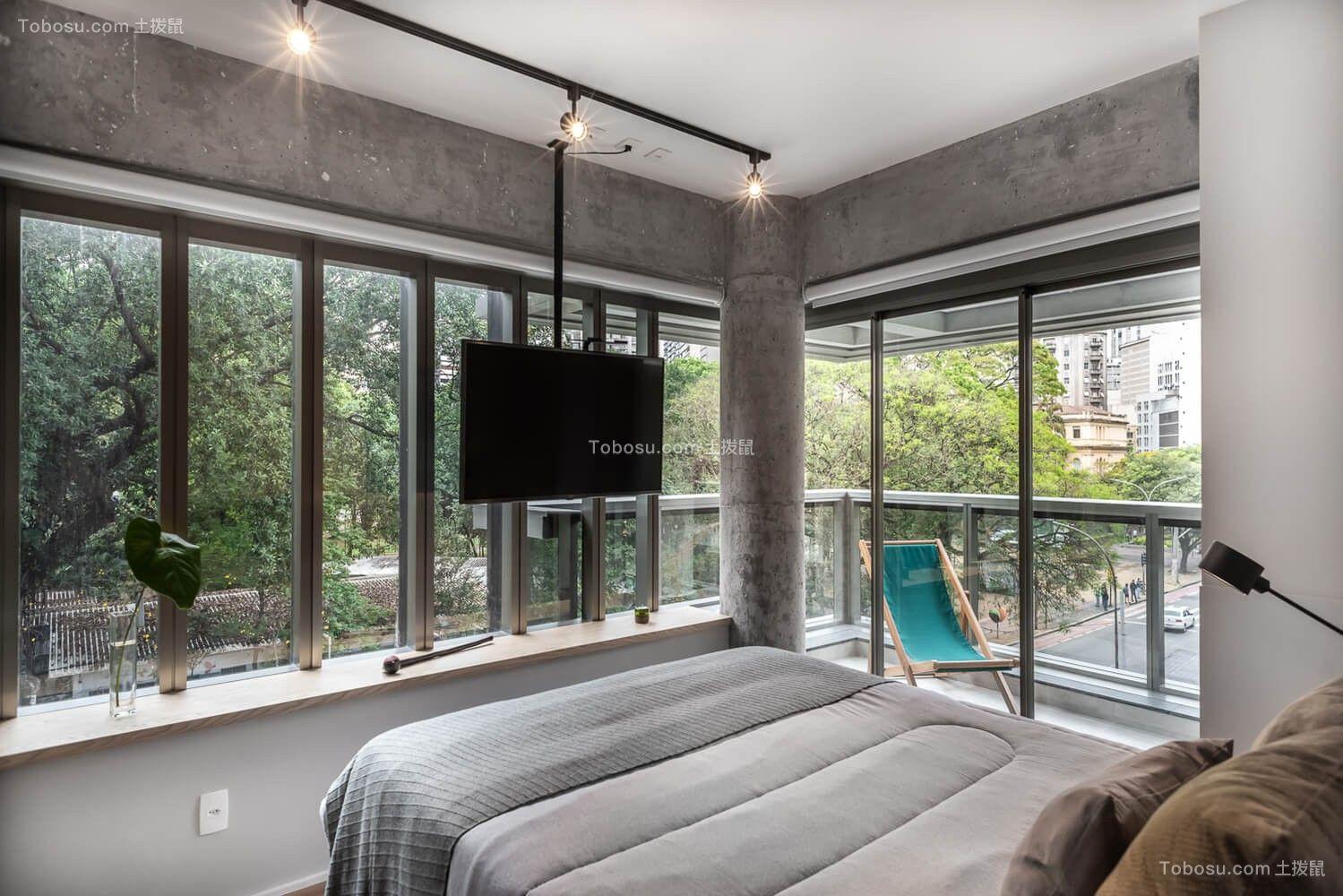 50平轻工业风小户型卧室住宅设计图片