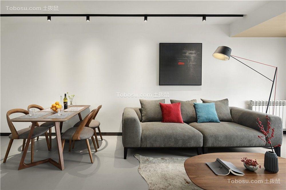 100平小阁楼户型现代设计客厅装修效果图