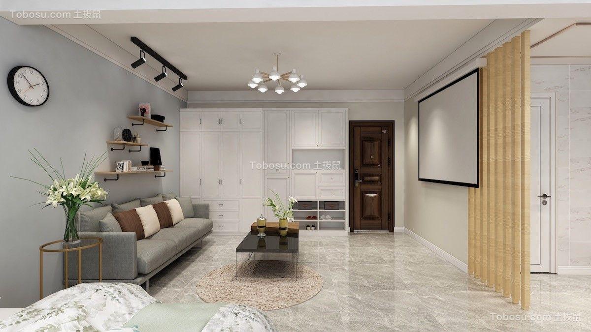 世纪大厦63平一居室现代简约风格效果图