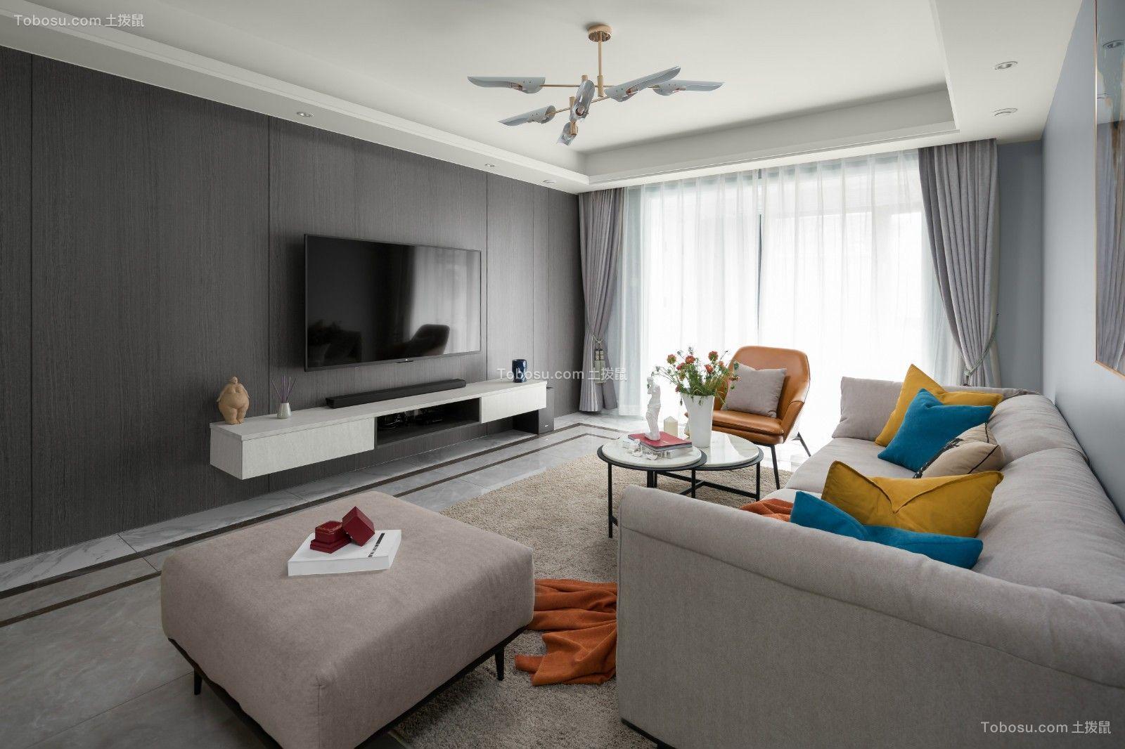 现代风格设计90平套房客厅效果图