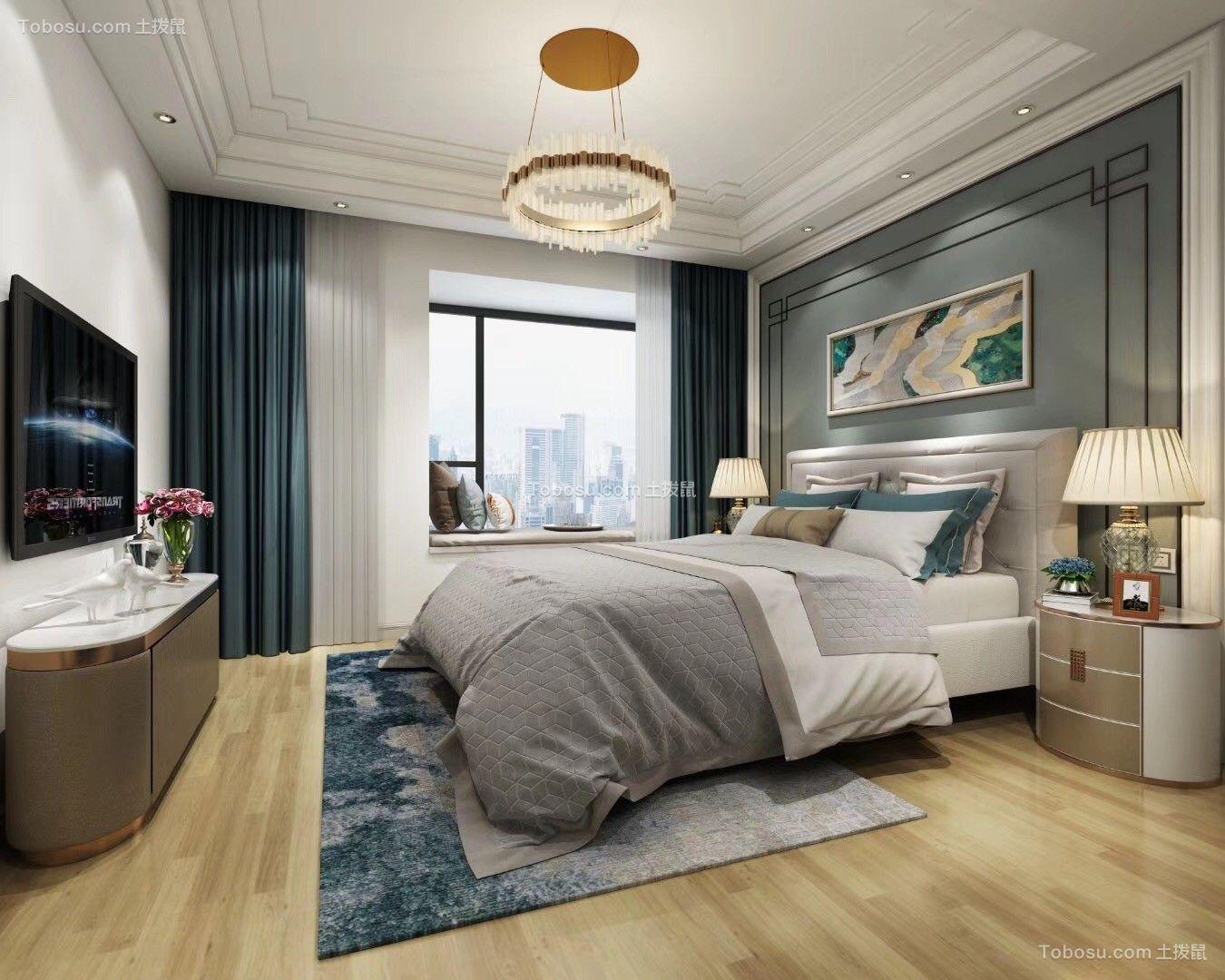 地中海风格100平4居室卧室效果图