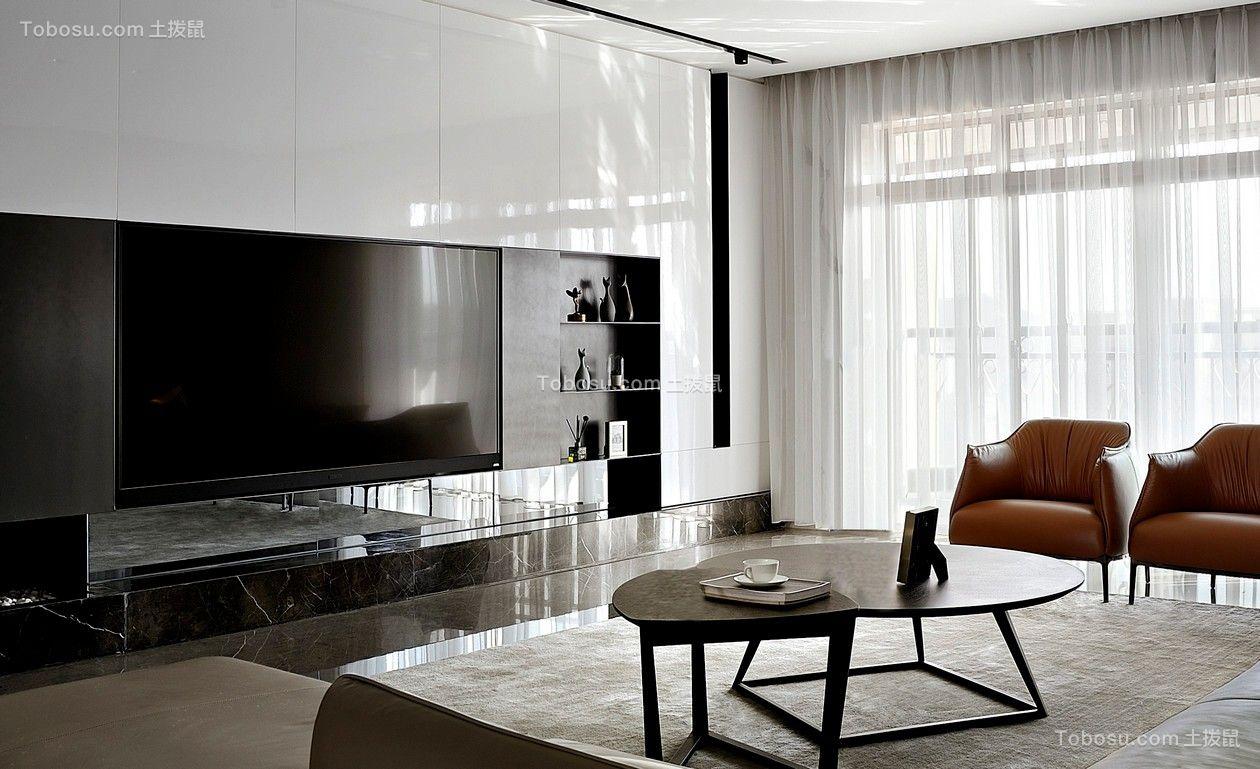 现代简约风格100平套房客厅装修效果图