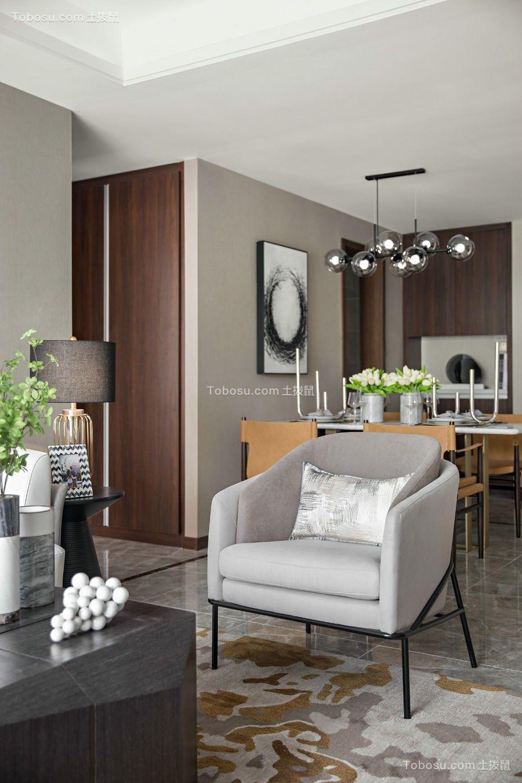110平米三居室现代设计