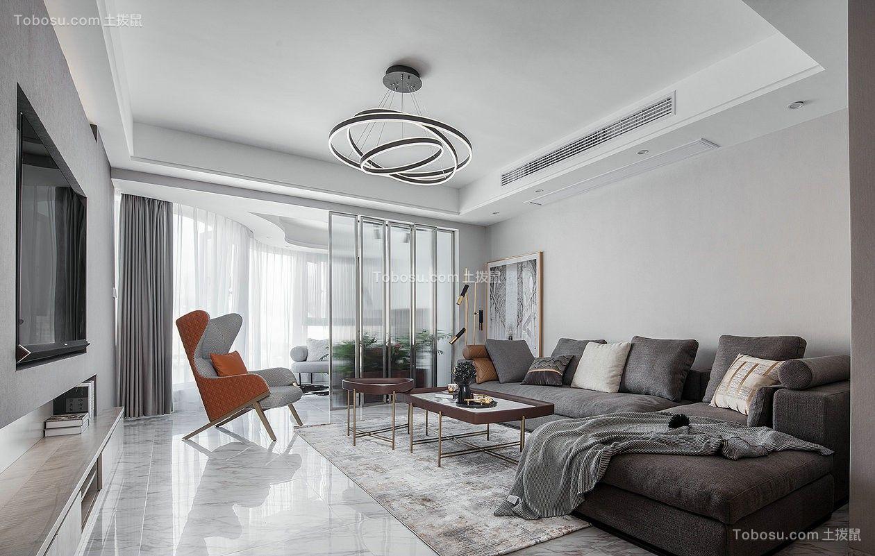 120平米套房现代设计装修效果图