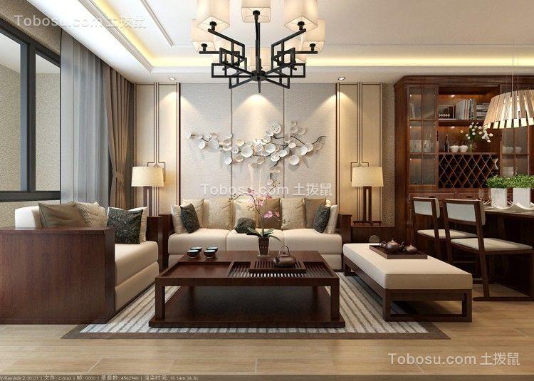 伟东幸福之城177平新中式别墅效果图