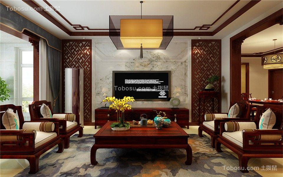 135三居中式装修效果图