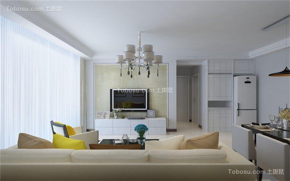 139平米三室暖色现代装修效果图