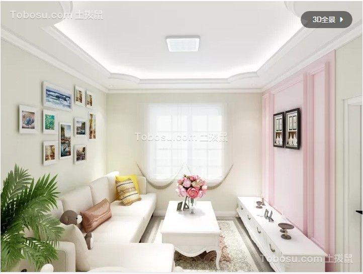 簡歐風格70平小戶型客廳裝修效果圖
