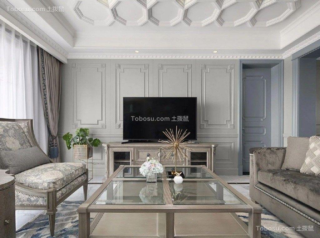浪漫法式家居三室装修设计效果图