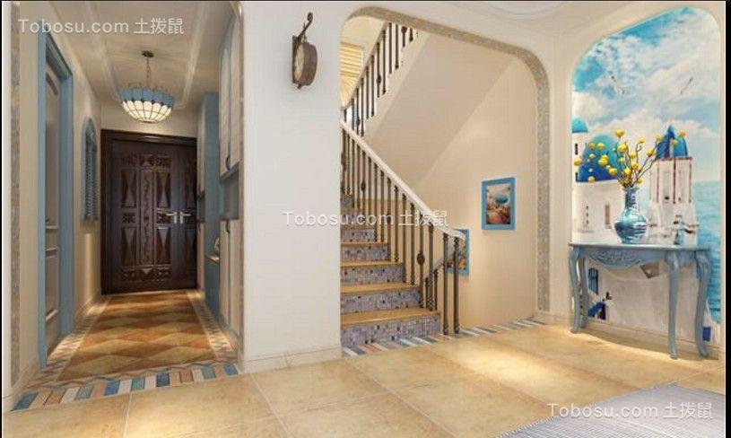蓝色套房地中海风格装修效果图