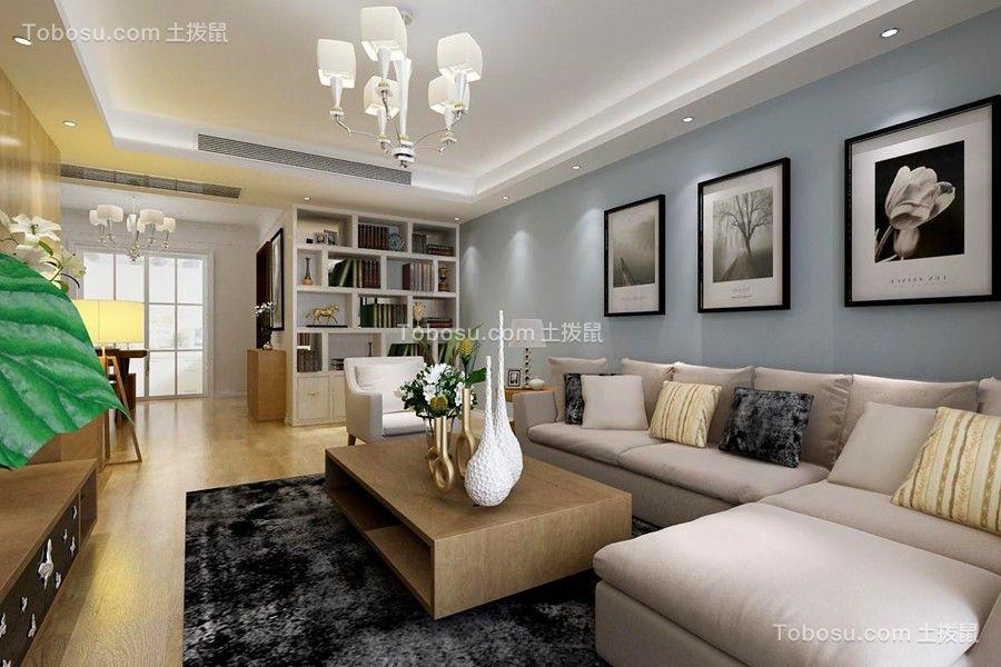 天怡景园146平北欧公寓课堂装修效果图
