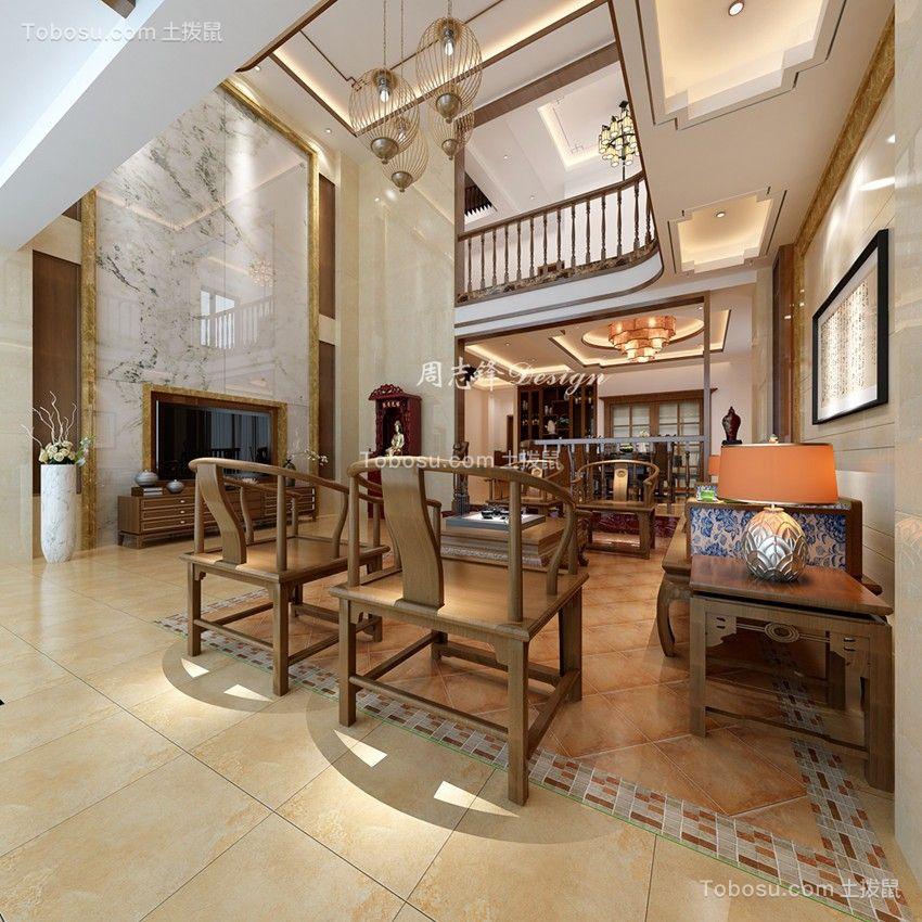 欣悦湾新中式风格别墅装修案例图