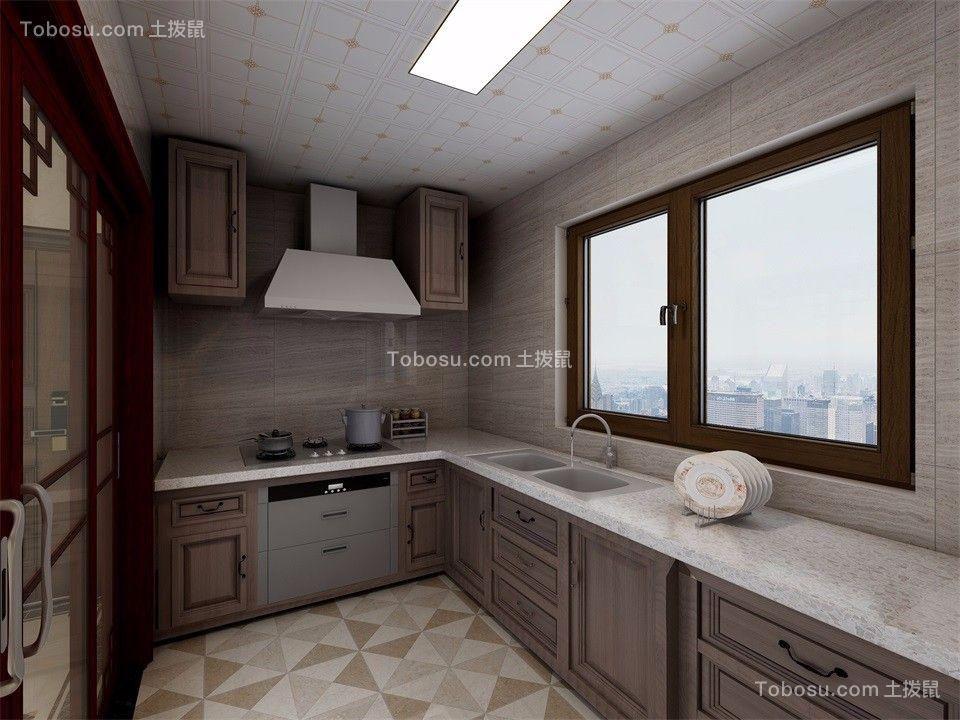 2019中式厨房装修图 2019中式橱柜装修效果图片