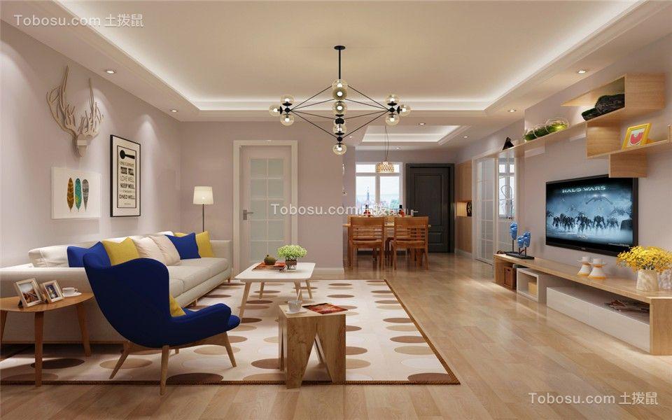 徽贵苑86平二居室简单风格客厅效果图