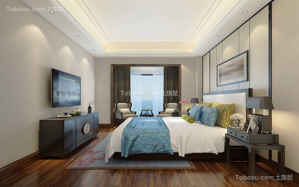 卧龙小城192平混搭风格复式卧室效果图