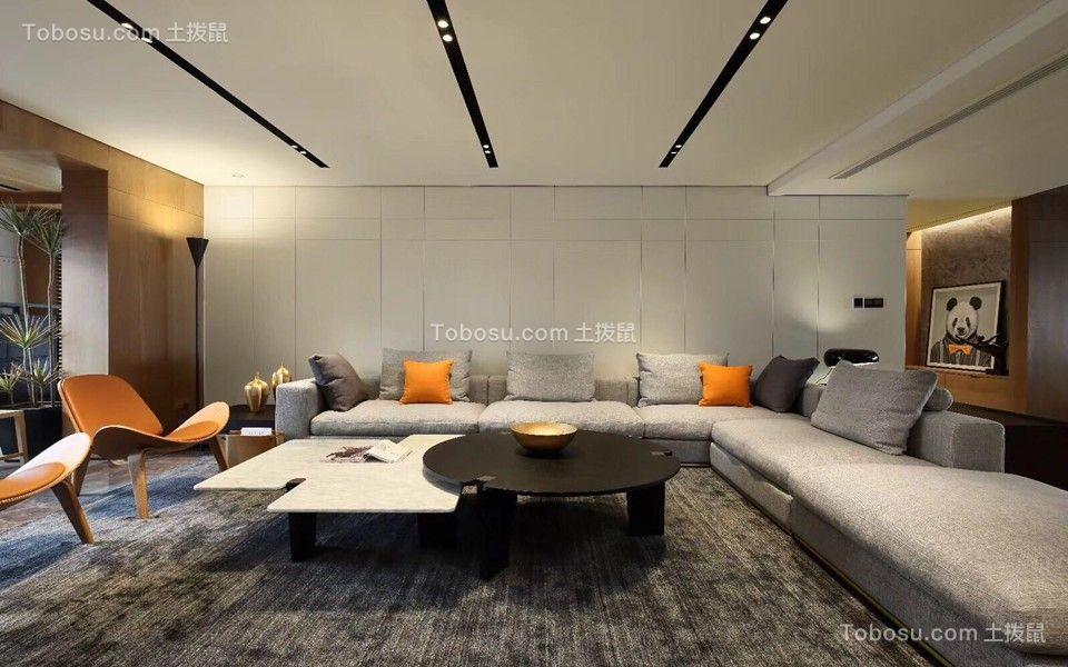 海景奥斯卡190平混搭风格套房客厅效果图