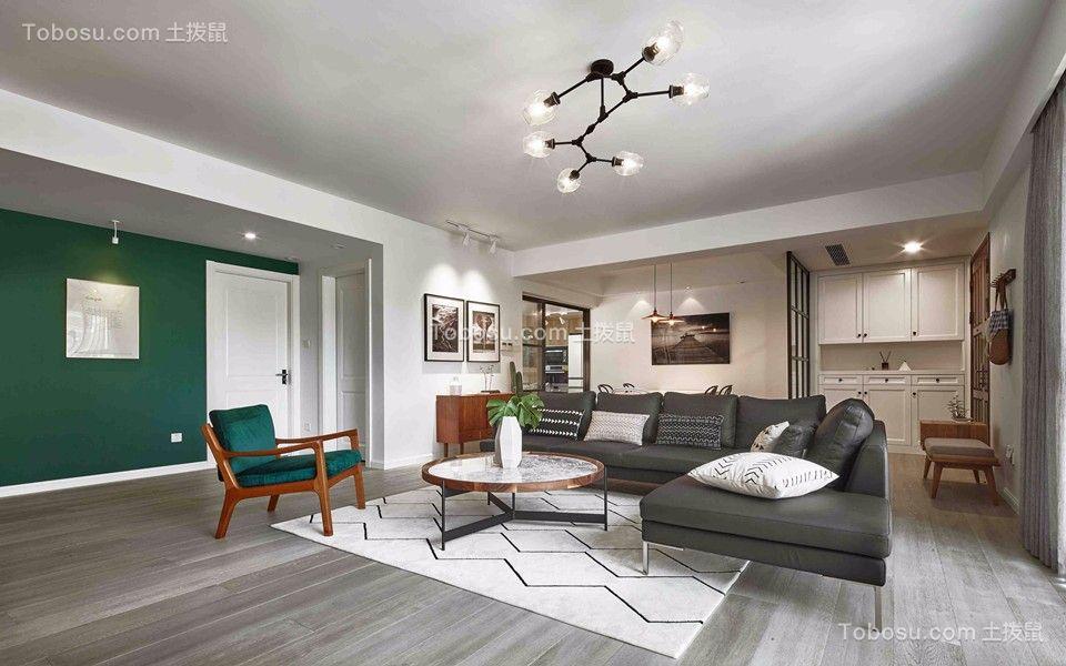 130平方白色三室混搭风格装修效果图