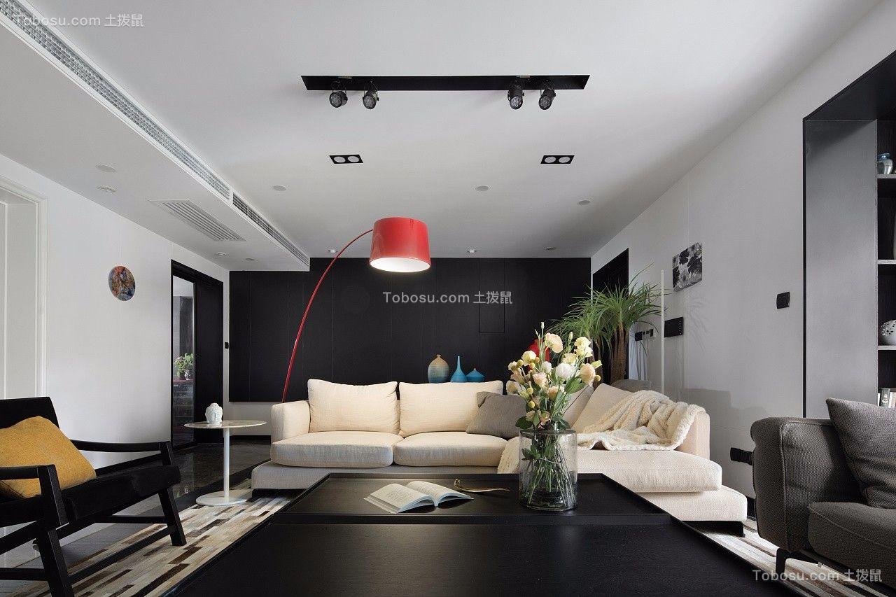 144平简约复式洋房客厅设计效果图