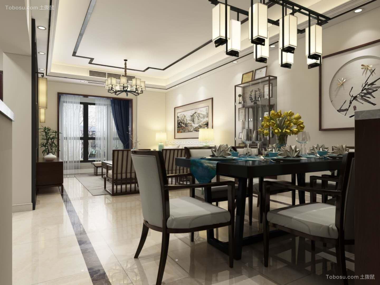 2019新中式餐厅效果图 2019新中式博古架装饰设计