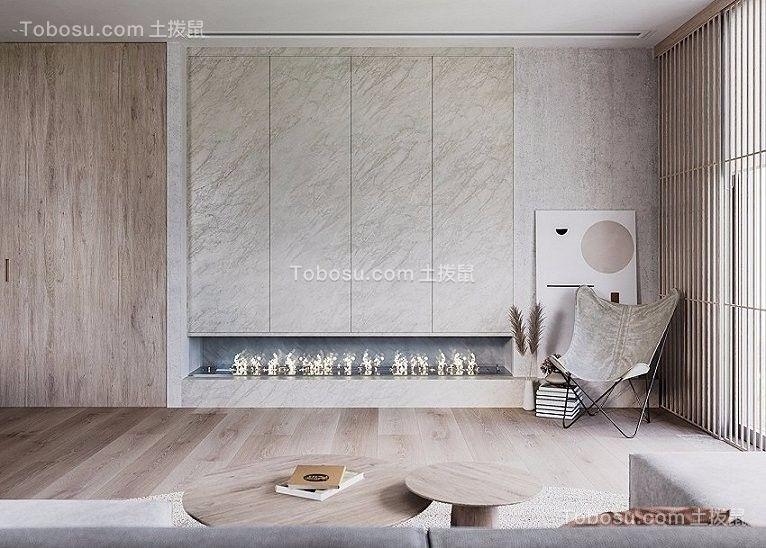 103平日式风格套房客厅装修效果图