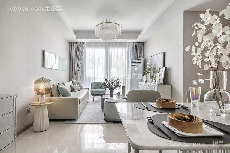 110平现代简约风格套房客厅效果图