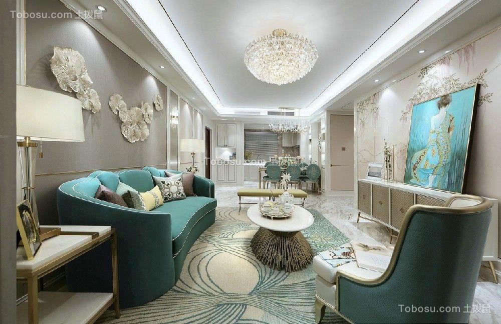109平欧式豪华公寓客厅效果图